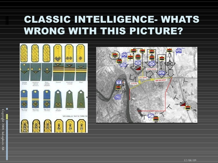 CLASSIC INTELLIGENCE- WHATS WRONG WITH THIS PICTURE? 06/07/09 Copyright 2008: Infosphere AB
