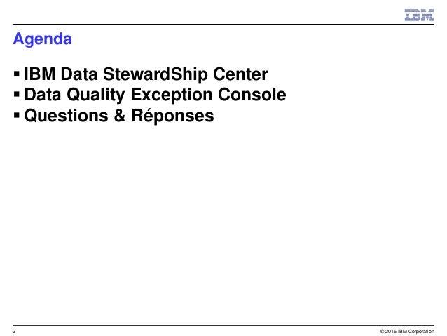 IBM InfoSphere Stewardship Center for iis dqec