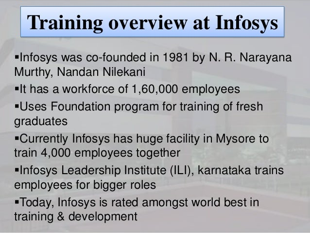 infosys training policy 16 years of experience in web and windows application development using java core, swings  completed infosys training in basic training - python, mysql and.