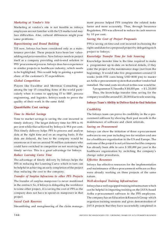 case infosys Strategic issues for business excellence a case study of infosys technologies  limited (cii'exim award winner 2002) infosys technologies ltd -an overview.