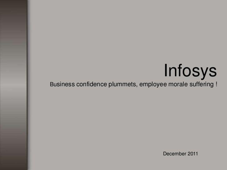 InfosysBusiness confidence plummets, employee morale suffering !                                      December 2011