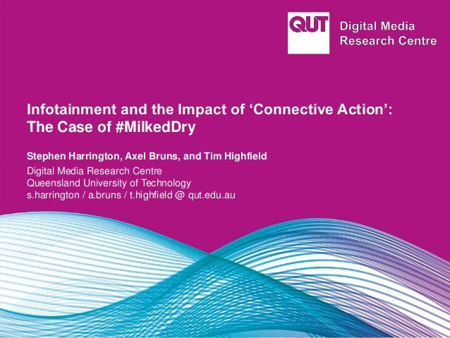 Infotainment and the Impact of 'Connective Action': The Case of #MilkedDry Stephen Harrington, Axel Bruns, and Tim Highfie...