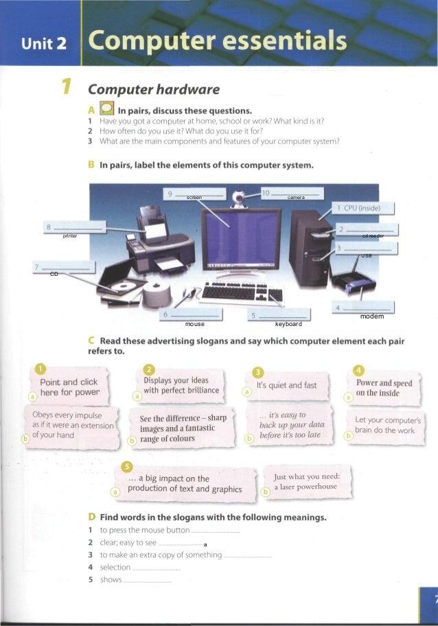 حل تمارين كتاب infotech english for computer users