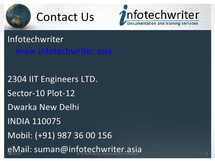 Echnical manual writing service india