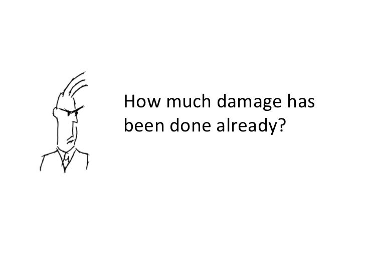 How much damage has been done already?