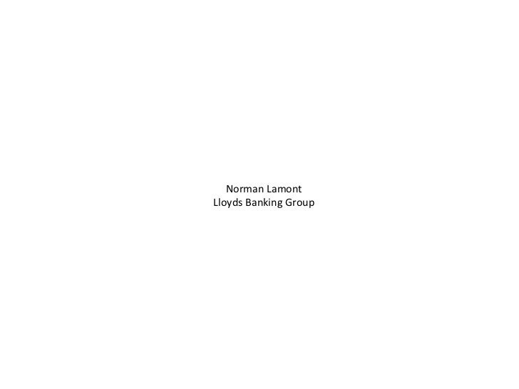 Norman Lamont Lloyds Banking Group