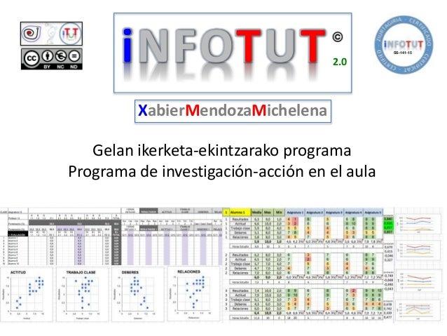 Gelan ikerketa-ekintzarako programa Programa de investigación-acción en el aula iNFOTUT 2.0 XabierMendozaMichelena SS-141-...