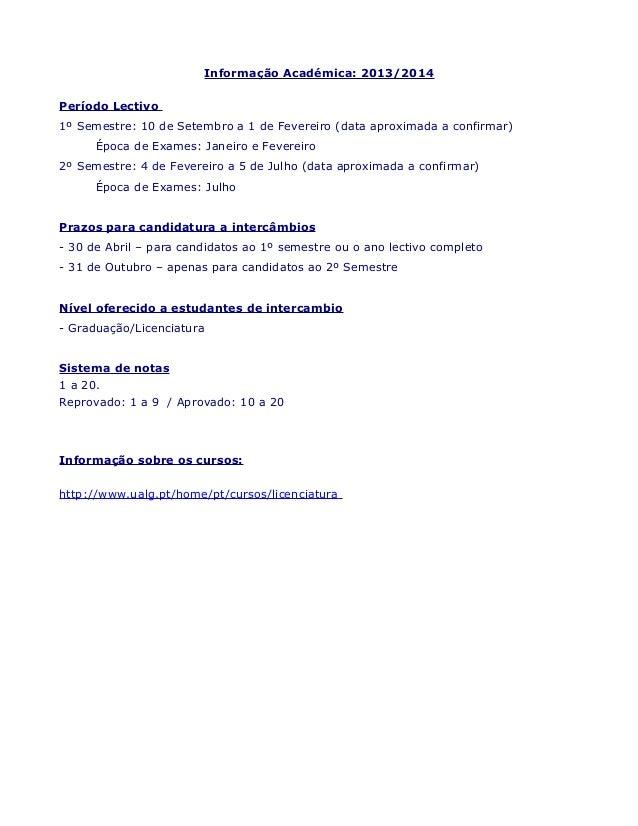 Informações para intercâmbio na Universidade do Algarve, Portugal Slide 2