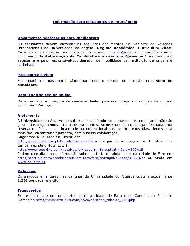 Informações para intercâmbio na Universidade do Algarve, Portugal Slide 3