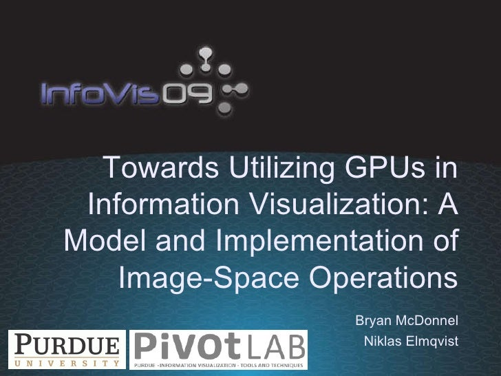 Towards Utilizing GPUs in Information Visualization: A Model and Implementation of Image-Space Operations Bryan McDonnel N...