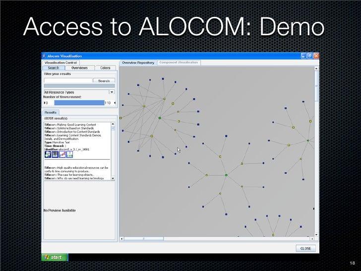 Access to ALOCOM: Demo                              18