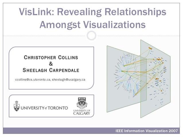 VisLink: Revealing Relationships       Amongst Visualizations    C H R I S TO P H E R C O L L I N S                    &  ...