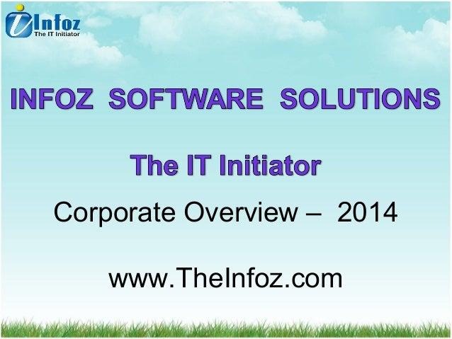 Corporate Overview – 2014 www.TheInfoz.com