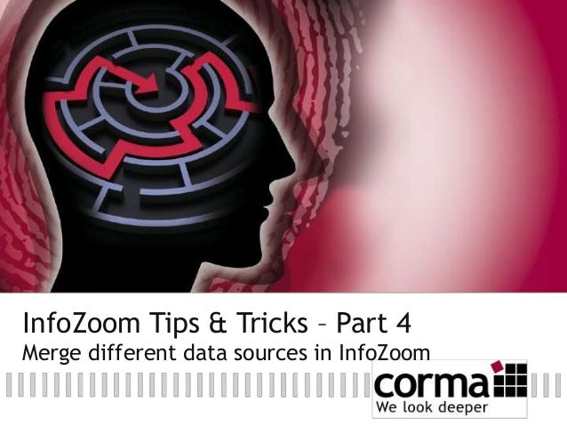 InfoZoom Tips & Tricks – Part 4 Merge different data sources in InfoZoom