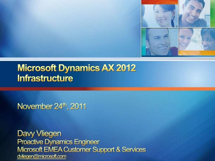 """Give a quick overview of the MicrosoftDynamics AX 2012 system architectureDiscuss """"Day in the life"""" benchmark studyProvide..."""