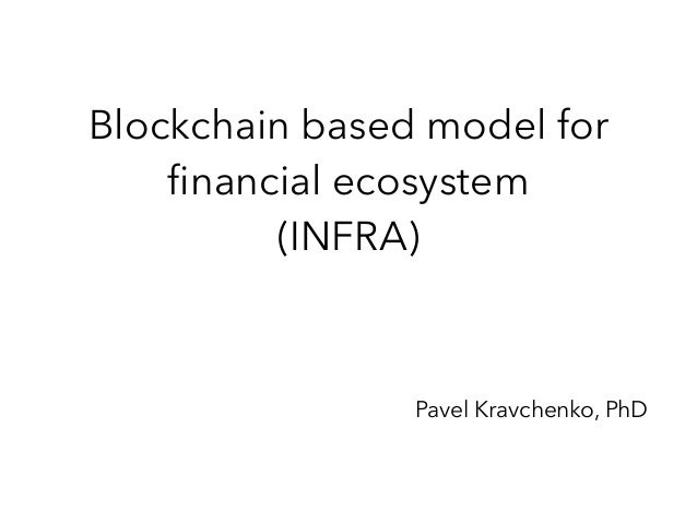 Blockchain based model for financial ecosystem (INFRA) Pavel Kravchenko, PhD