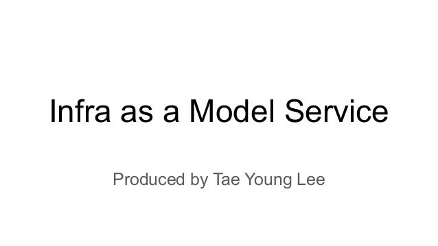 Infra as a Model Service Produced by Tae Young Lee