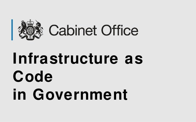 Infrastructure as  Code  in Government