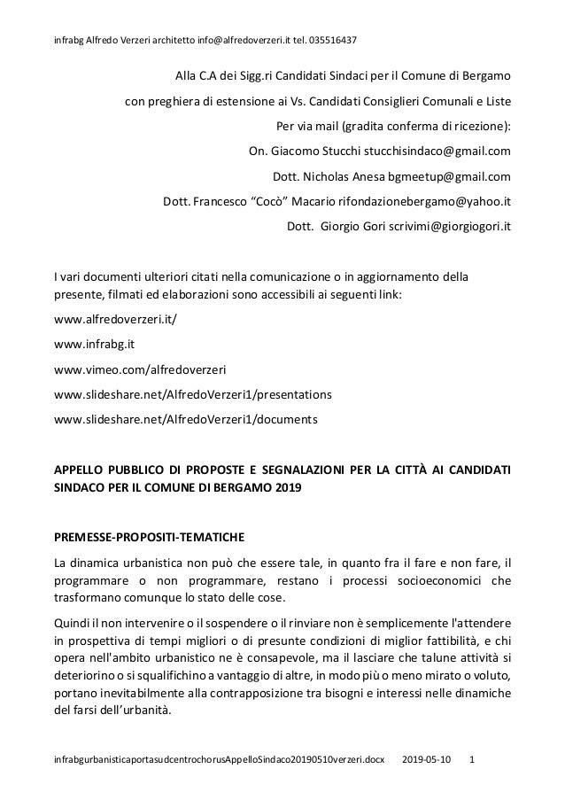 infrabg Alfredo Verzeri architetto info@alfredoverzeri.it tel. 035516437 infrabgurbanisticaportasudcentrochorusAppelloSind...