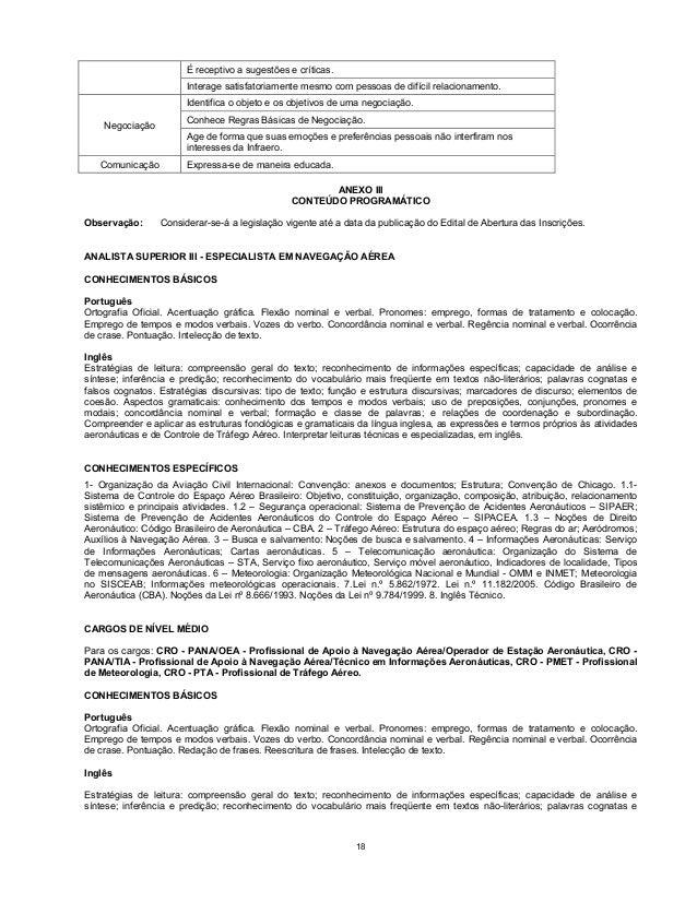 EDITAL DA BAIXAR INFRAERO CONCURSO 2011 DO