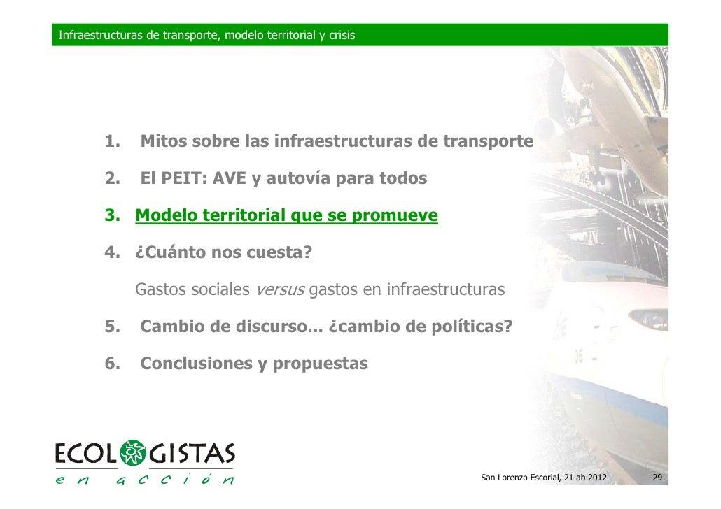 Infraestructuras de transporte, modelo territorial y crisis         1.     Mitos sobre las infraestructuras de transporte ...