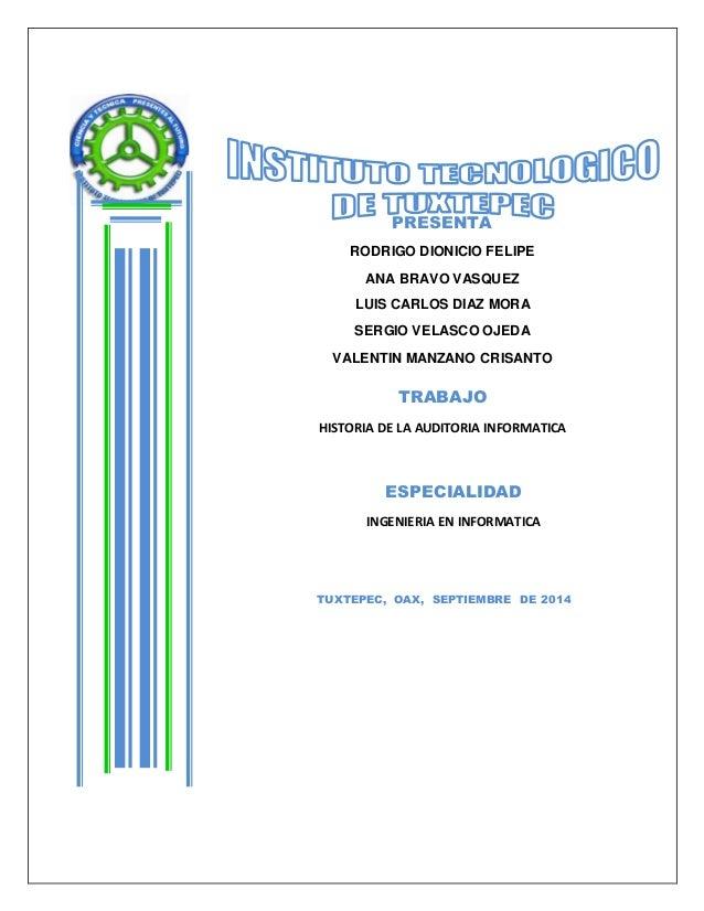 PRESENTA  RODRIGO DIONICIO FELIPE  ANA BRAVO VASQUEZ  LUIS CARLOS DIAZ MORA  SERGIO VELASCO OJEDA  VALENTIN MANZANO CRISAN...