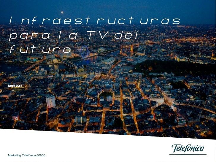 Infraestructuras para la TV del futuro Mayo 2011 Marketing Telefónica GGCC