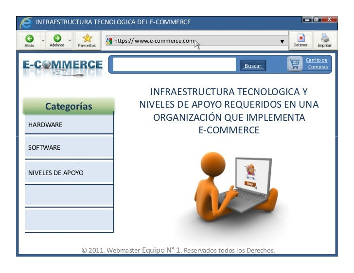 INFRAESTRUCTURA TECNOLOGICA DEL E-COMMERCE                         https:// www.e-commerce.com                            ...