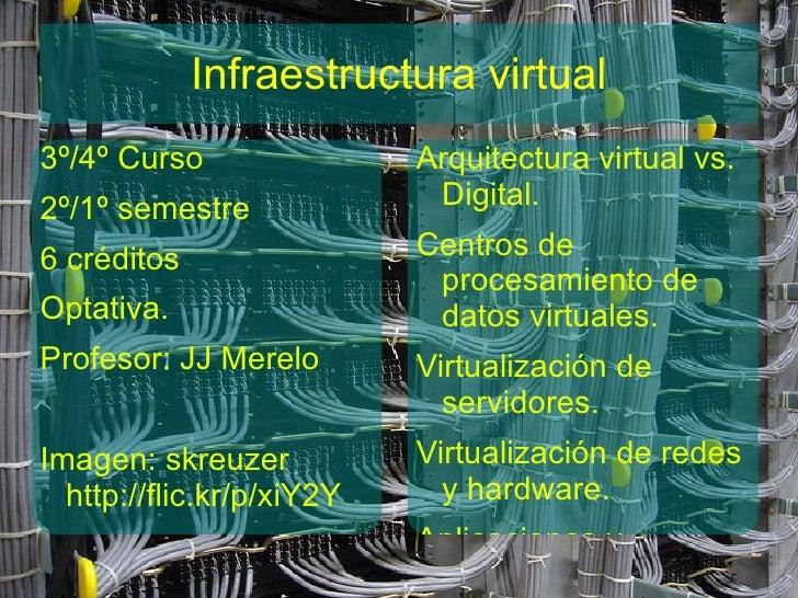 Infraestructura virtual3º/4º Curso                Arquitectura virtual vs.2º/1º semestre              Digital.6 créditos  ...