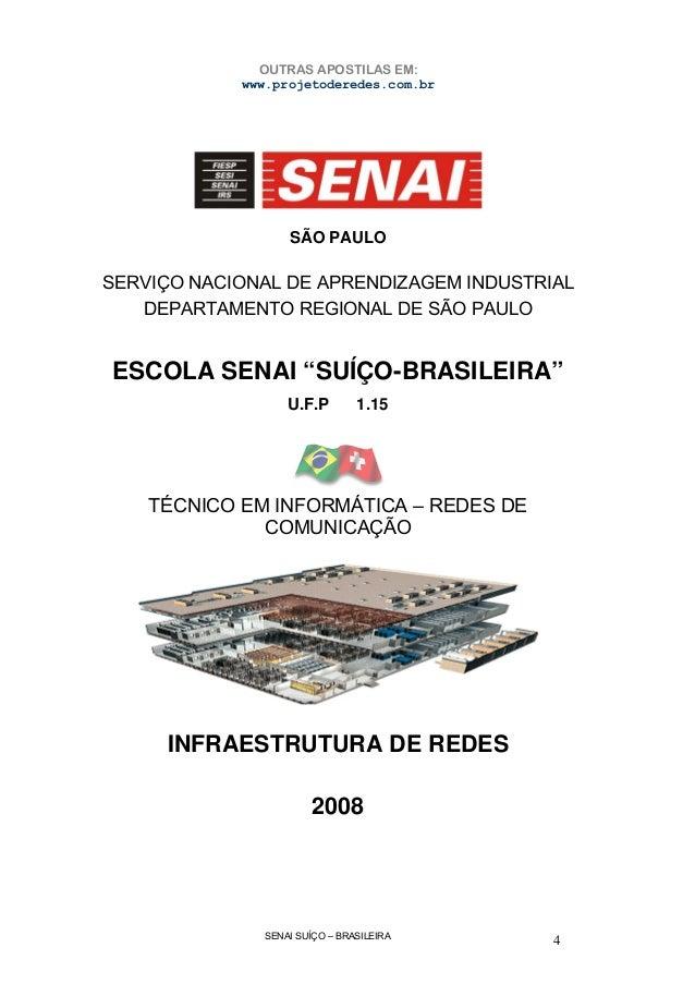 SENAI SUÍÇO – BRASILEIRA 4 SÃO PAULO SERVIÇO NACIONAL DE APRENDIZAGEM INDUSTRIAL DEPARTAMENTO REGIONAL DE SÃO PAULO ESCOLA...