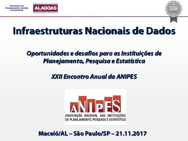 Infraestruturas Nacionais de DadosInfraestruturas Nacionais de Dados Oportunidades e desafios para as Instituições deOport...