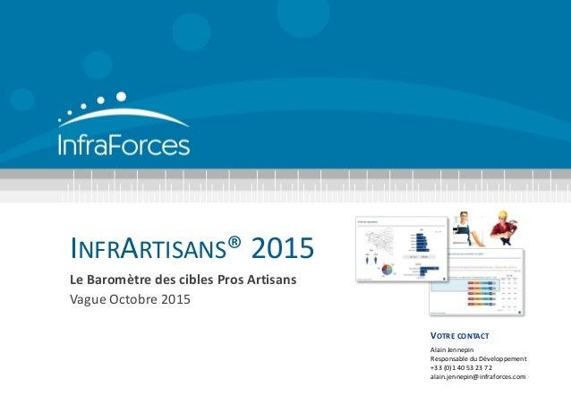 INFRARTISANS® 2015 Le Baromètre des cibles Pros Artisans Vague Octobre 2015 VOTRE CONTACT Alain Jennepin Responsable du Dé...