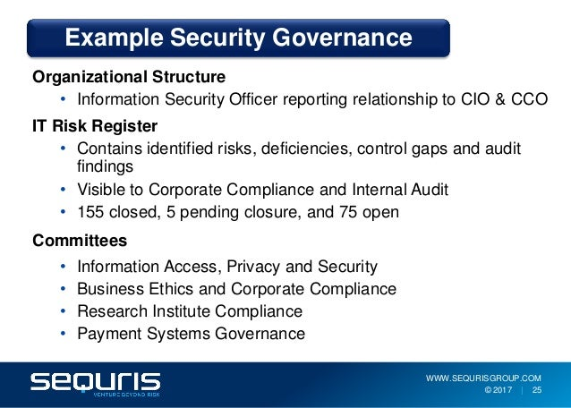 Security program guidance and establishing a culture of - Ethics and compliance officer association ...