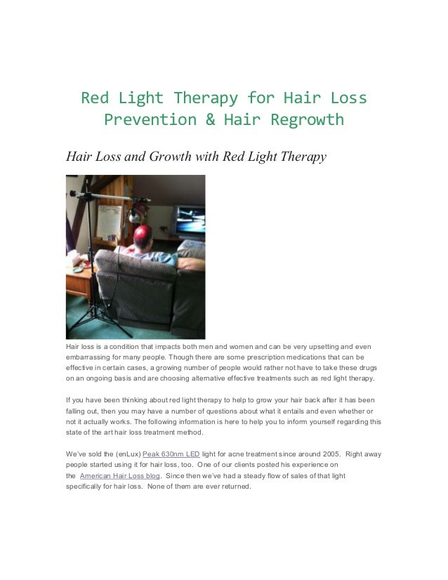 Infrared For Hair Growth