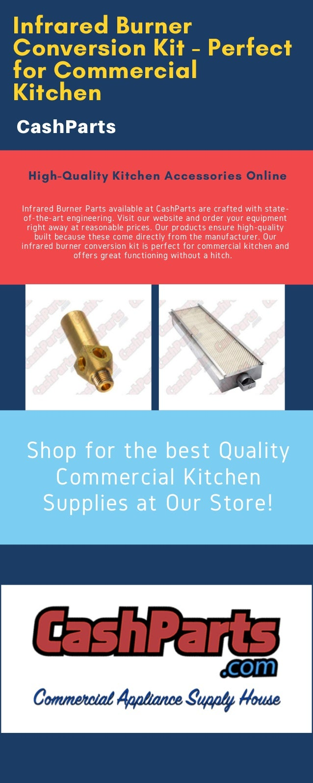 Infrared Burner Parts - Best Quality Commercial Kitchen Supplies