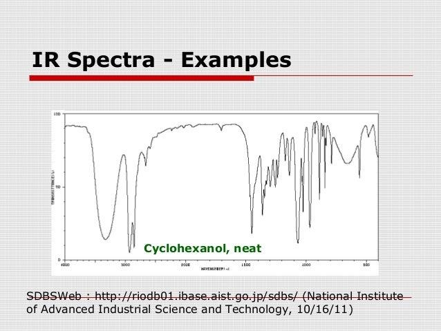 cyclohexanol ir spectrum analysis
