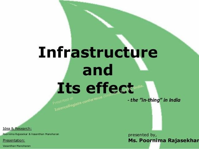 Infrastructure                              and                           Its effect           t              nce c       ...