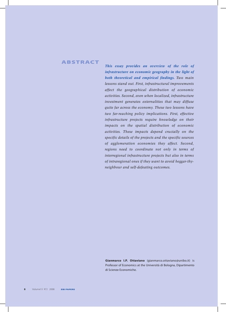 ABSTRACT                                      This essay provides an overview of the role of                              ...
