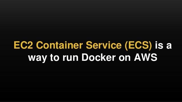 An intro to Docker, Terraform, and Amazon ECS