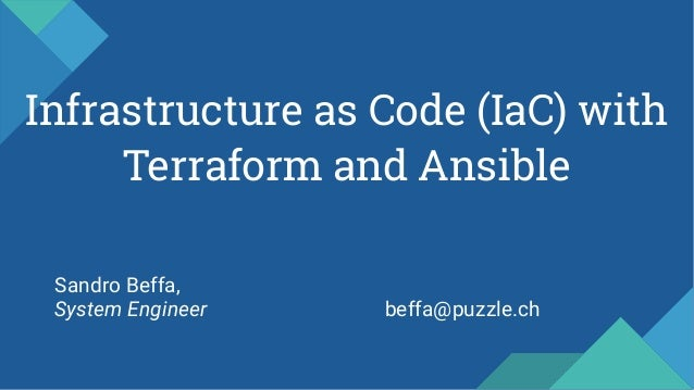 Infrastructure as Code with Terraform and Ansible Slide 2