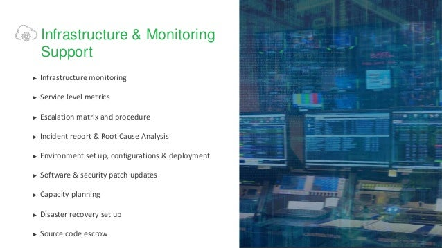 Infrastructure Cloud & Monitoring Support Slide 3
