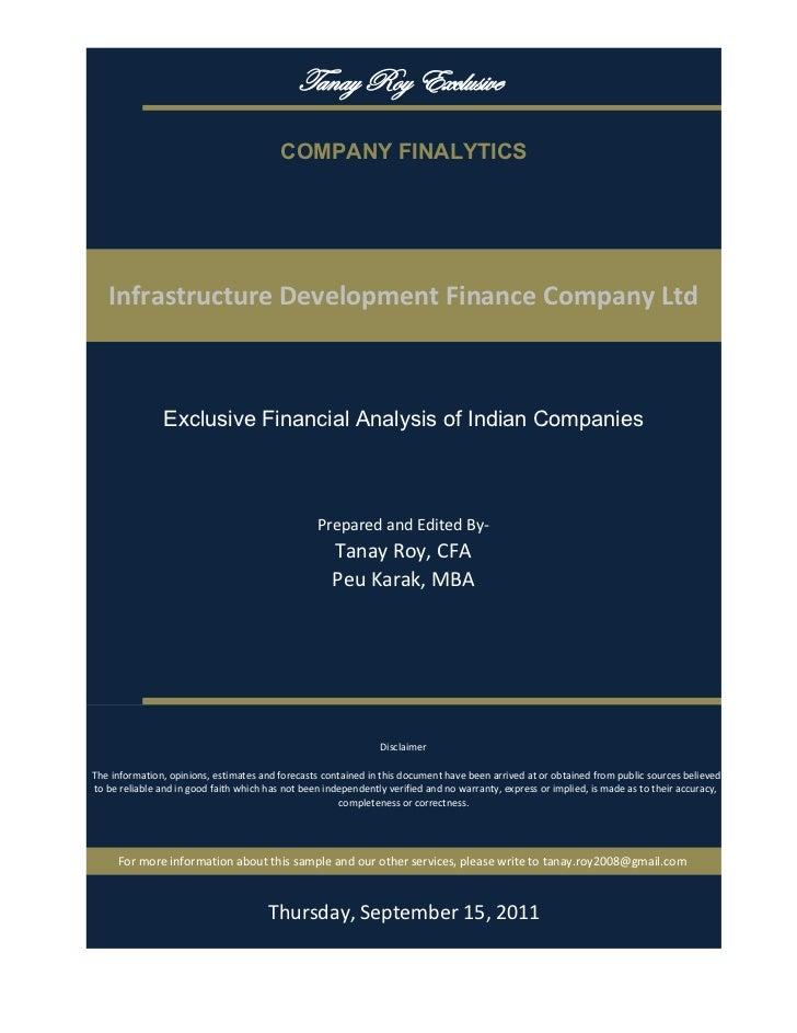 gtÇtç eÉç XåvÄâá|äx                                           COMPANY FINALYTICS    InfrastructureDevelopmentFinanceCom...