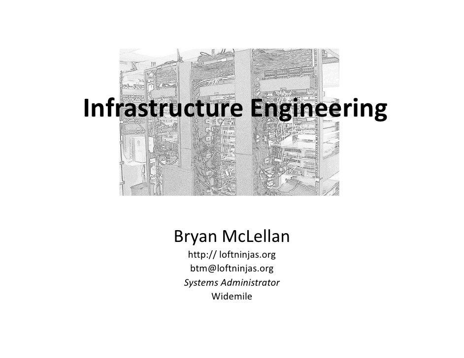 Infrastructure Engineering           Bryan McLellan          http:// loftninjas.org          btm@loftninjas.org         Sy...