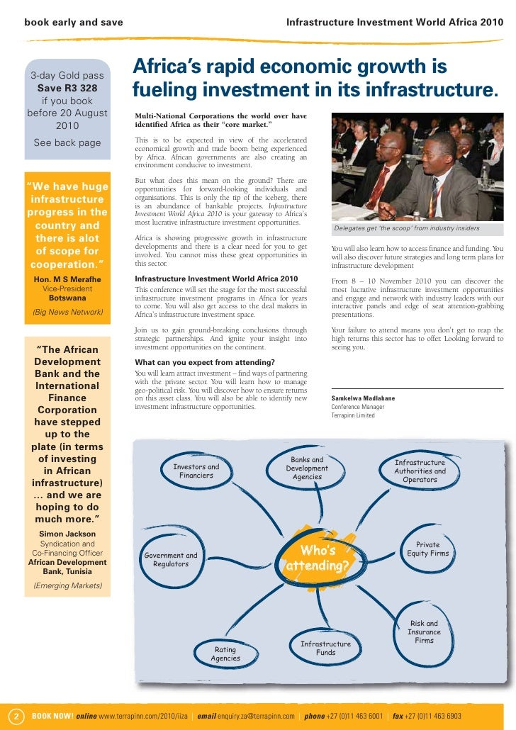 Infrastructure investment brochure Slide 2
