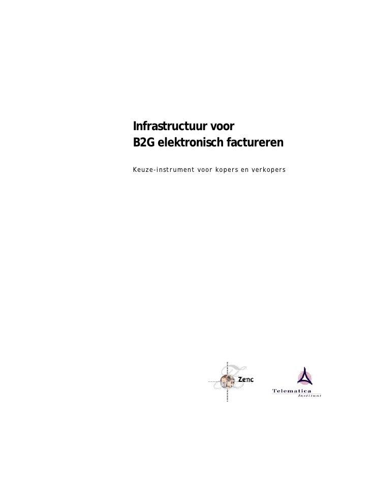 Infrastructuur voor B2G elektronisch factureren  Keuze-instrument voor kopers en verkopers
