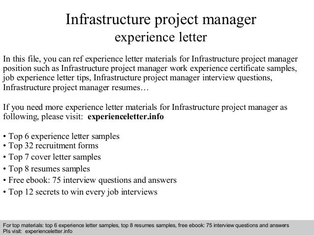 it infrastructure manager job description
