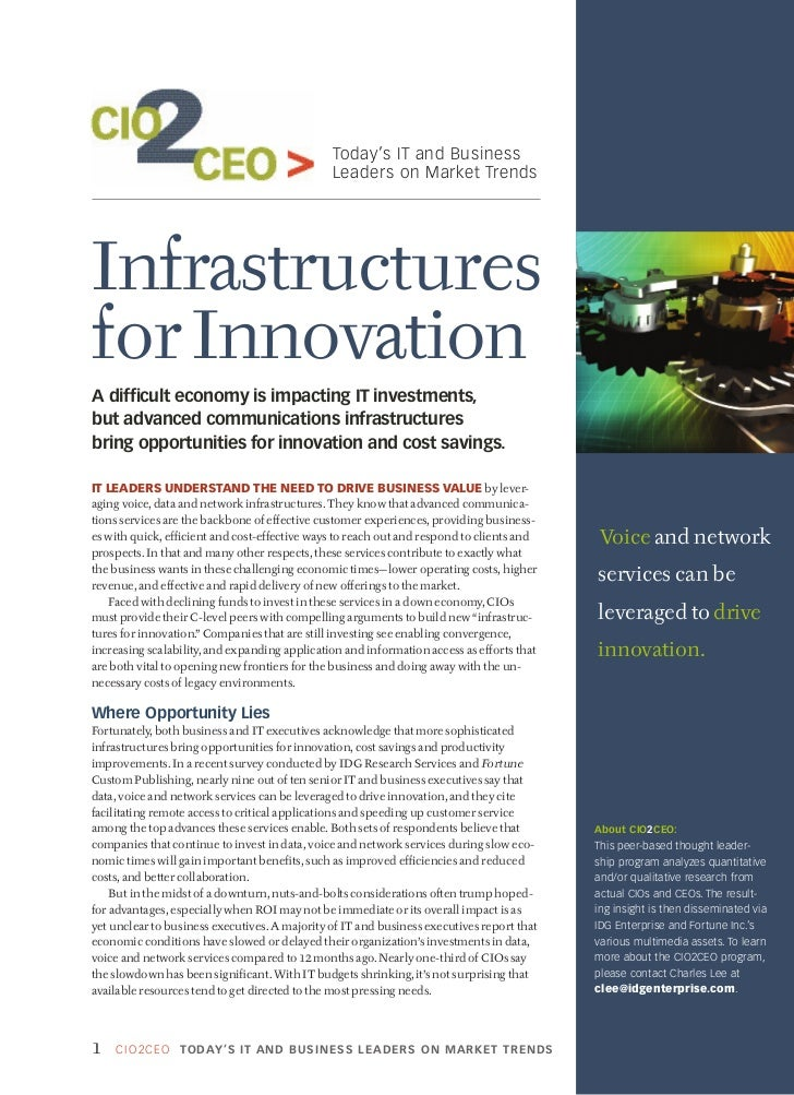 Today's IT and Business                                               Leaders on Market TrendsInfrastructuresfor Innovatio...