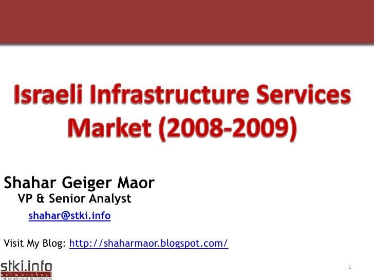 Your Text here                         Your Text here    Shahar Geiger Maor   VP & Senior Analyst    shahar@stki.info  Vis...
