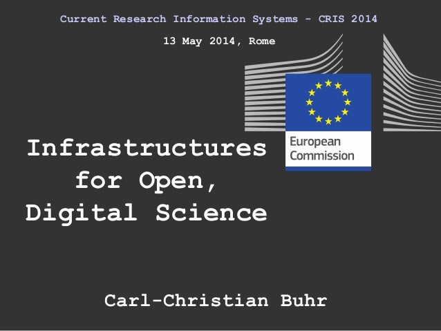 Infrastructures for Open, Digital Science Current Research Information Systems - CRIS 2014 13 May 2014, Rome Carl-Christia...