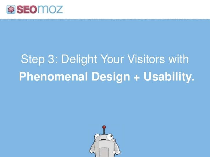Logical, Shallow Information Architecture<br />http:/googleblog.blogspot.com/2010/06/our-new-search-index-caffeine.html<br...